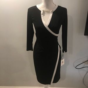 {Calvin Klein} wrap dress with chained detailing